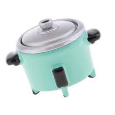 Modern Electric Cooker Toy Dollhouse Miniature Kitchen Appliance Decor Cyan