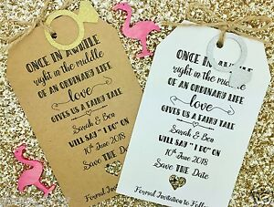 """Fairy Tail"" Save The Date / Evening Card Wedding Invitation with Envelope"