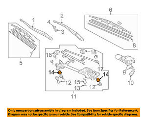 Details About Honda Oem Accord Wiper Windshield Linkage Assembly Bushing Right 76516sdna01