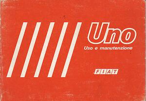 FIAT-UNO-LIBRETTO-USO-E-MANUTENZIONE-2-EDIZIONE