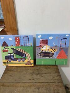 "Oopsy Daisy Too Fine Art For Kids ""Build It"" Canvas Wall Art Boys"