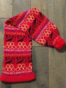 aeb8c783218 Vintage Knit Stocking Ski Jump Hat Pom Pom Oslo Cortina ASPEN ...
