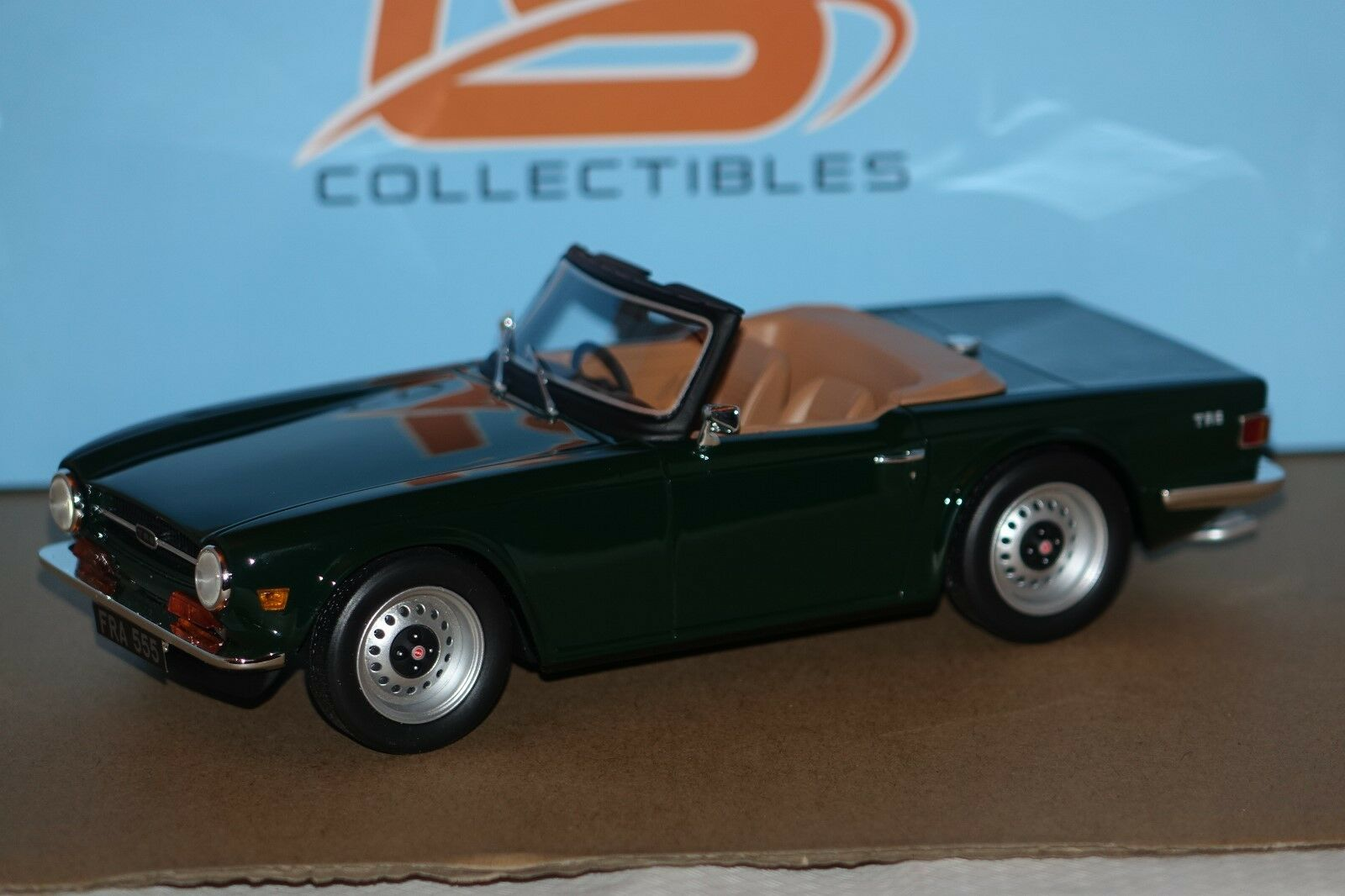 TRIUMPH tr6 VERDE 1:18 resin LS Collectibles NUOVO & OVP ls002a