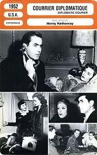 Fiche Cinéma. Movie Card. Courrier diplomatique/Diplomatic courier (USA) 1952