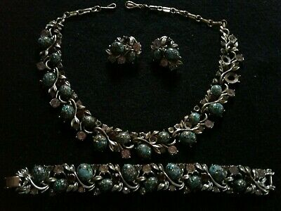 Necklace /& Earring Demi Parure Collectible Costume Jewelry 1950/'s 1960/'s Mid Century Fashion Accessory Vintage CORO Jewelry Set