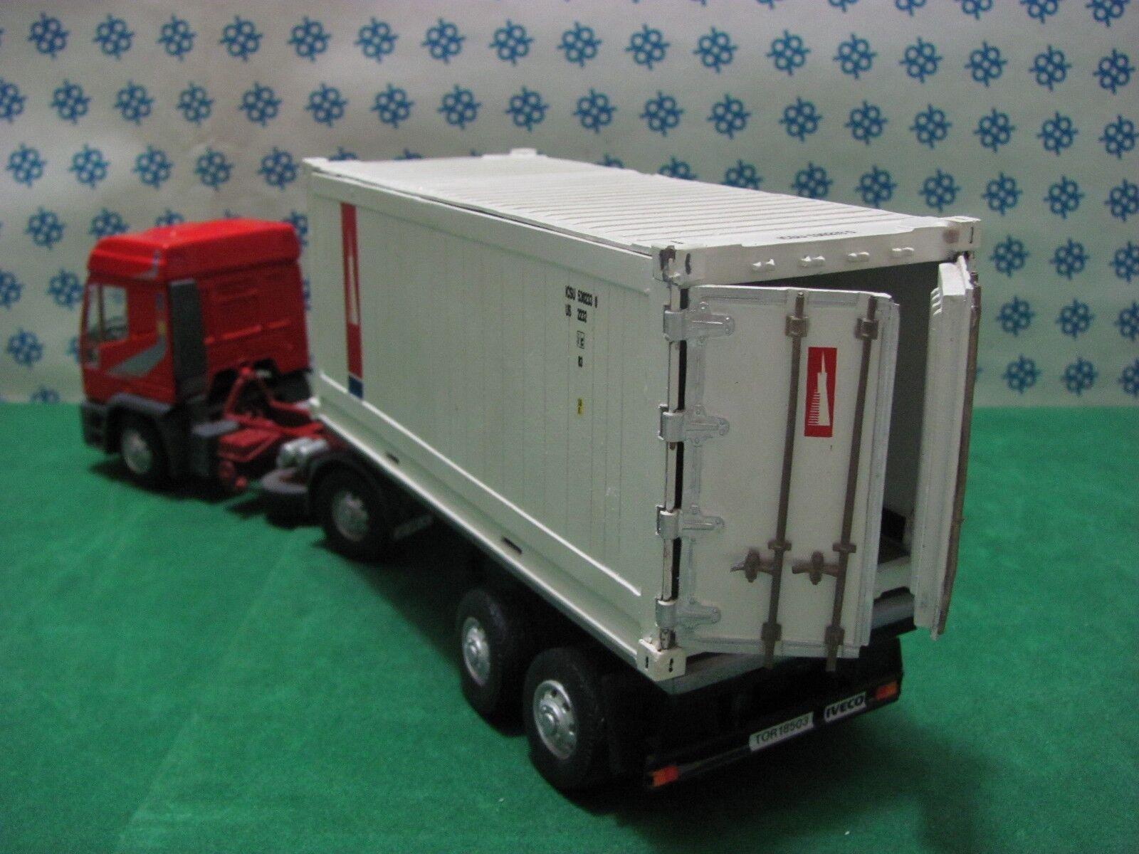 CAMION CAMION CAMION IVECO Eurotech Bilico Container apribile  -1/43 Old Cars/Gila Modelli | Doux Et Léger  | Le Roi De La Quantité  | Moelleux Et Léger  08aea6