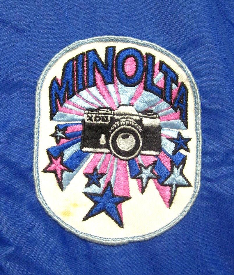 Minolta VTG Lrg Windbreaker 1970 chaqueta japonés cámaras Psychedelic  Parche  Web oficial