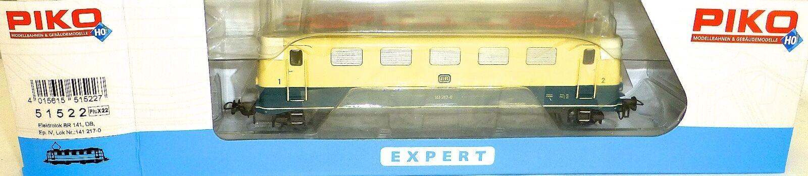 141 217-0 Locomotora Eléctrica Azul Crema DB epiv PIKO 51522 plux22 H0 187 HQ2