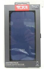 official photos 814e4 6c350 Tumi Leather Folio Case Blue iPhone 6s 6 Plus