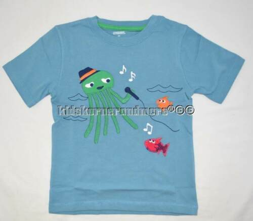 Gymboree Rock the Waves 6-12-18-24 mo 2T 3T 4T 5T Shirt Shark Fish Music Orange