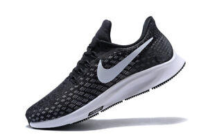New-Nike-Women-039-s-Air-Zoom-Pegasus-35-in-Black-White-Gunsmoke-Oil-Grey-Size-7