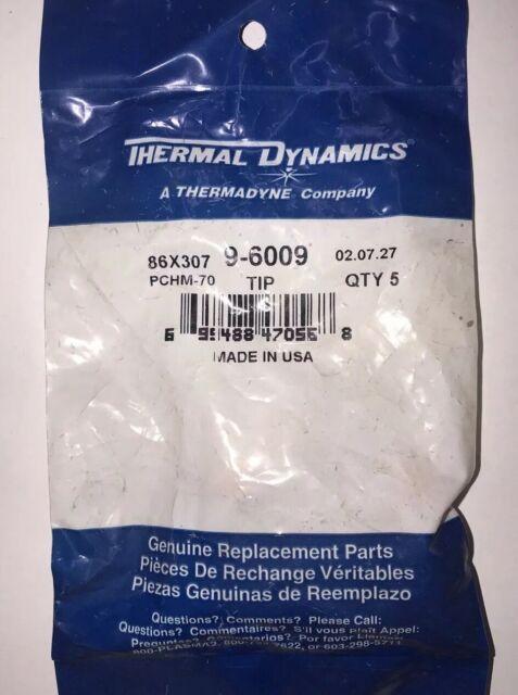 Thermal Dynamics Plasma 70 Amp Tip 9-6009 PCH70 $55 5