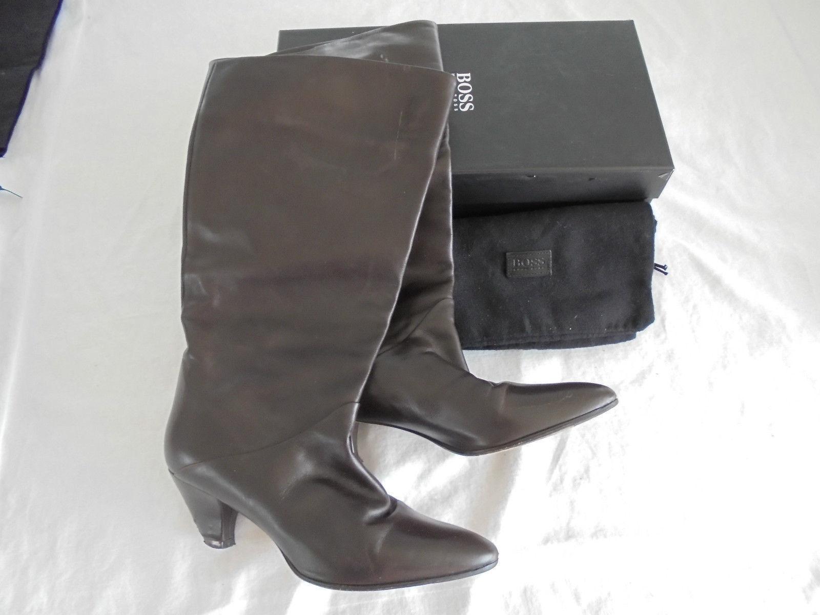 Hugo Boss botas de cuero NP  top zapatos de salón tacón alto bolsa