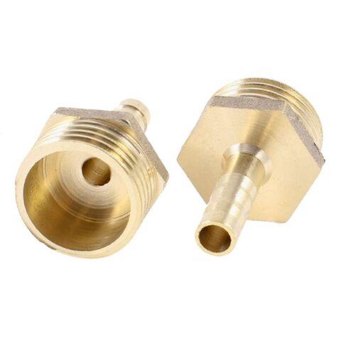 """3X 2 Stueck Messing 6mm Luftgasrohr Schlauchtuelle 1//2 /""""PT Stecker Gewinde Y6D7"""