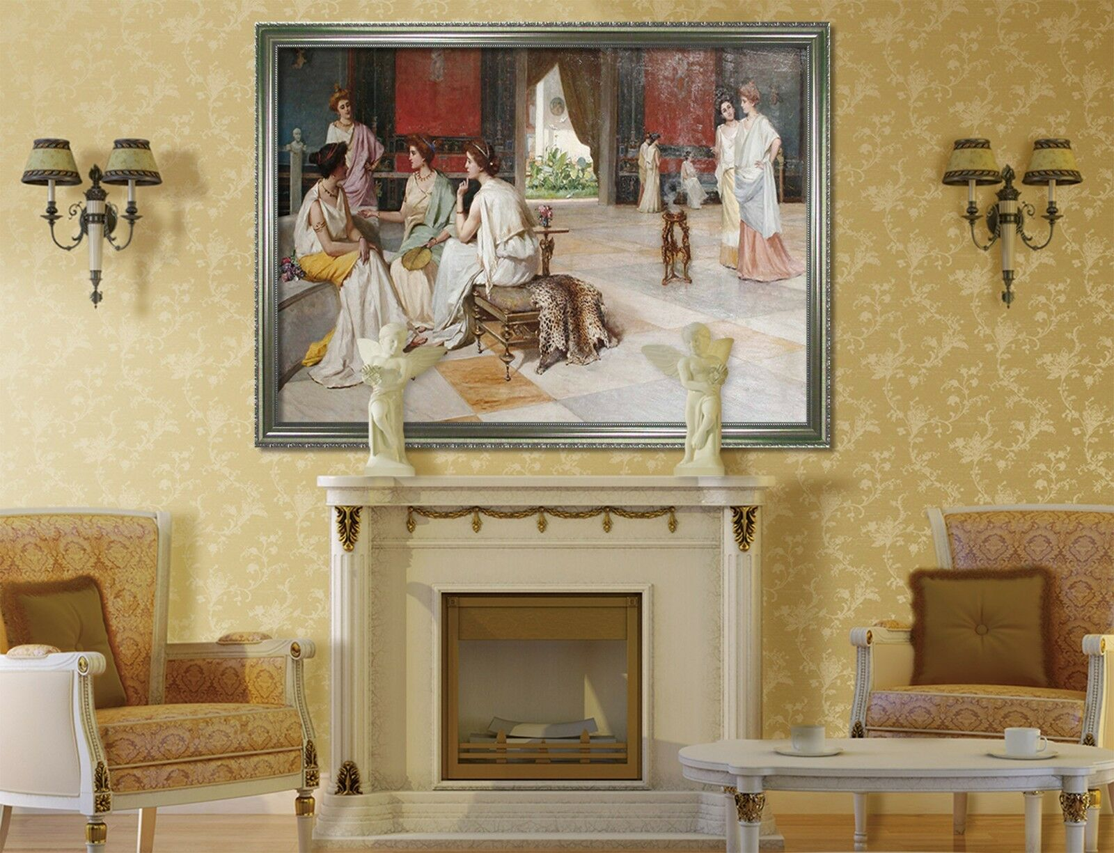3D Roman Palace Lady 1 Framed Poster Home Decor Print Painting Art AJ WALLPAPER