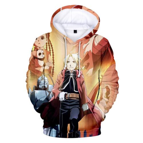 Unisex Anime Fullmetal Alchemist Edward Elric Cosplay Pullover à Capuche Sweat