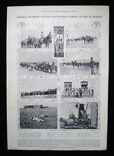 MEXICAN REVOLUTION MEXICO PASCUAL OROZCO JUAN NAVARRO ETC 1pp PHOTO ARTICLE 1911