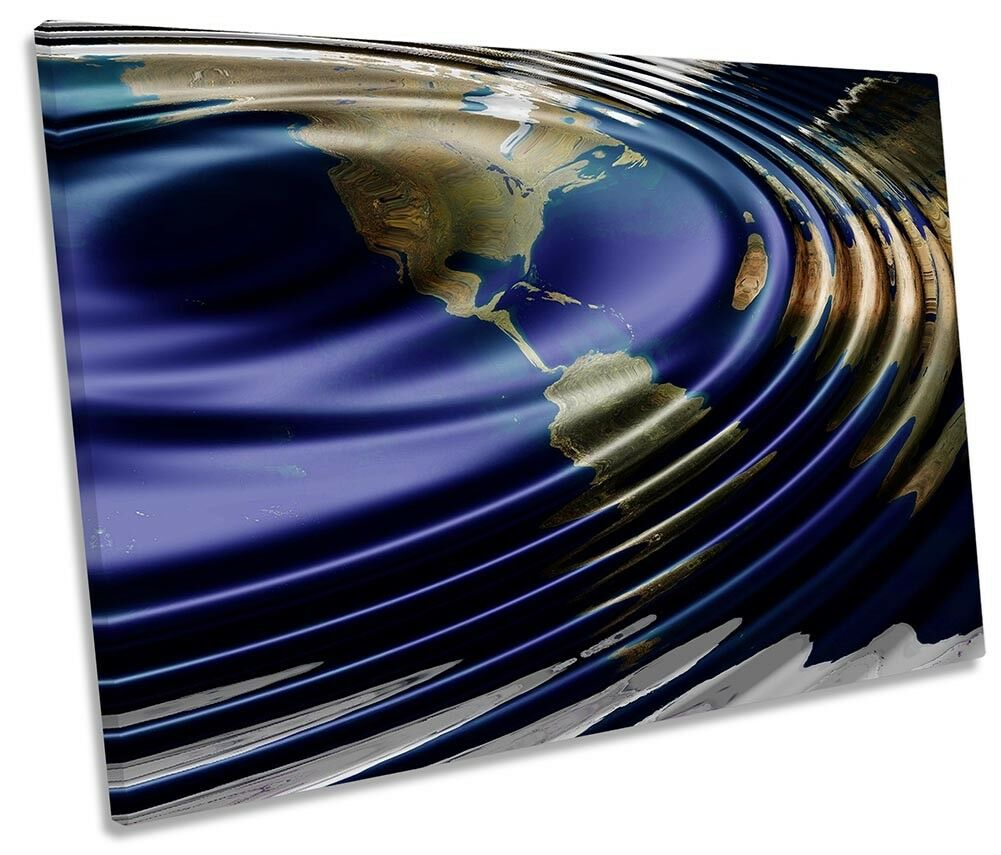 Bathroom Water Ripples Picture SINGLE CANVAS WALL ART Print