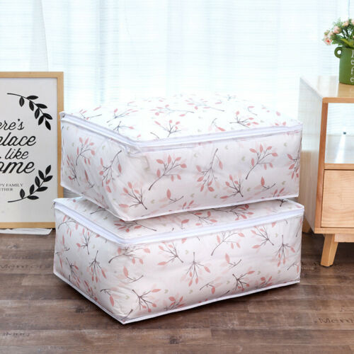 1xQuilt Storage Bag Home Clothes Quilts Pillow Blanket Storage Bags Under Bed