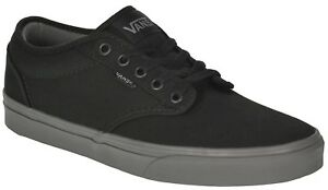 81ea0e5ed4c0c1 VANS Atwood (Check Liner) Black Grey Skate Shoes MEN S 7 WOMEN S 8.5 ...