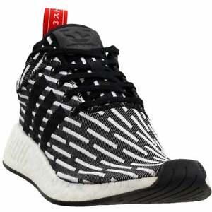 adidas-NMD-R2-Primeknit-Sneakers-Casual-Black-Mens