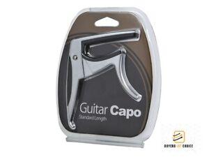 Folk Acoustic Electric Quick Tune Change Trigger Guitar Capo Key Clamp Argent-afficher Le Titre D'origine Ferme En Structure