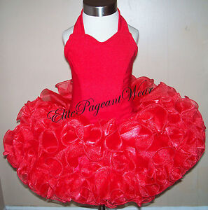 National Pageant Dress Shell  sizes 6mos to 7//8 Girls