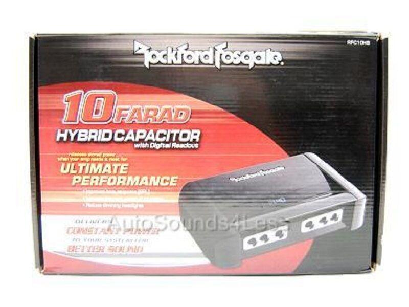 Rockford Fosgate RFC10HB Hybrid 10 Farad Digital Stiffening Capacitor