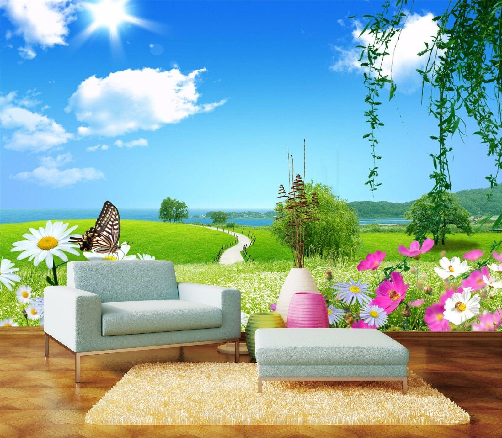 3D Grassland Scenery 3223 Wallpaper Decal Dercor Home Kids Nursery Mural Home