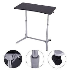 Height Adjustable Computer Desk Laptop Table Rolling Sit to Stand Notebook New