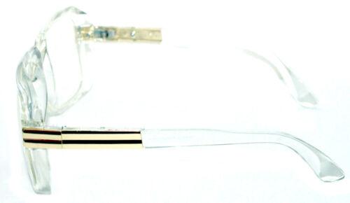 Men/'s Hip Hop 80/'s Vintage 607 Clear Lens Eye Glasses RUN DMC Clear Gold Frame