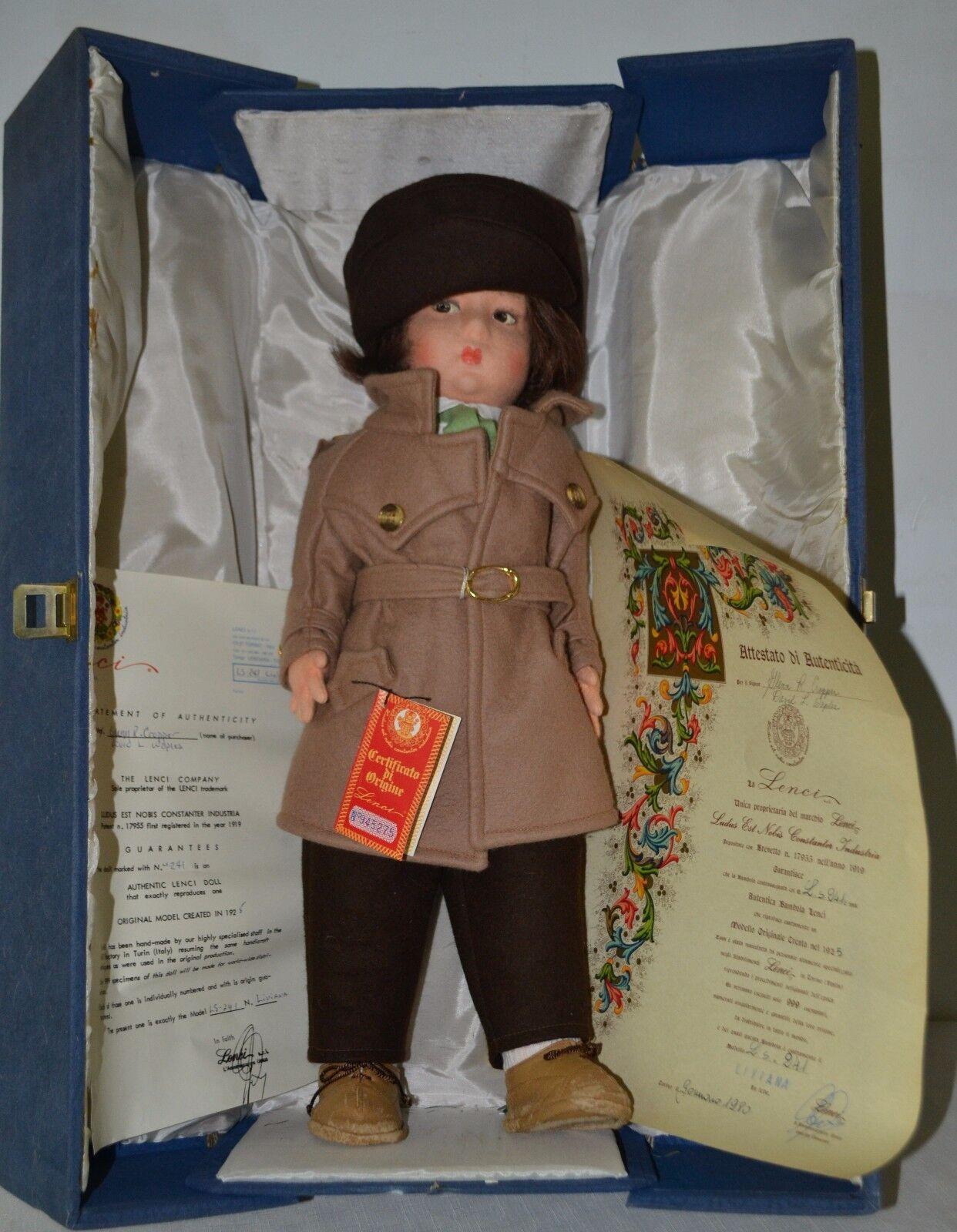 Lenci, Felt Doll, Nanni, Original Box, Letter of AuthentiStadt, 1980