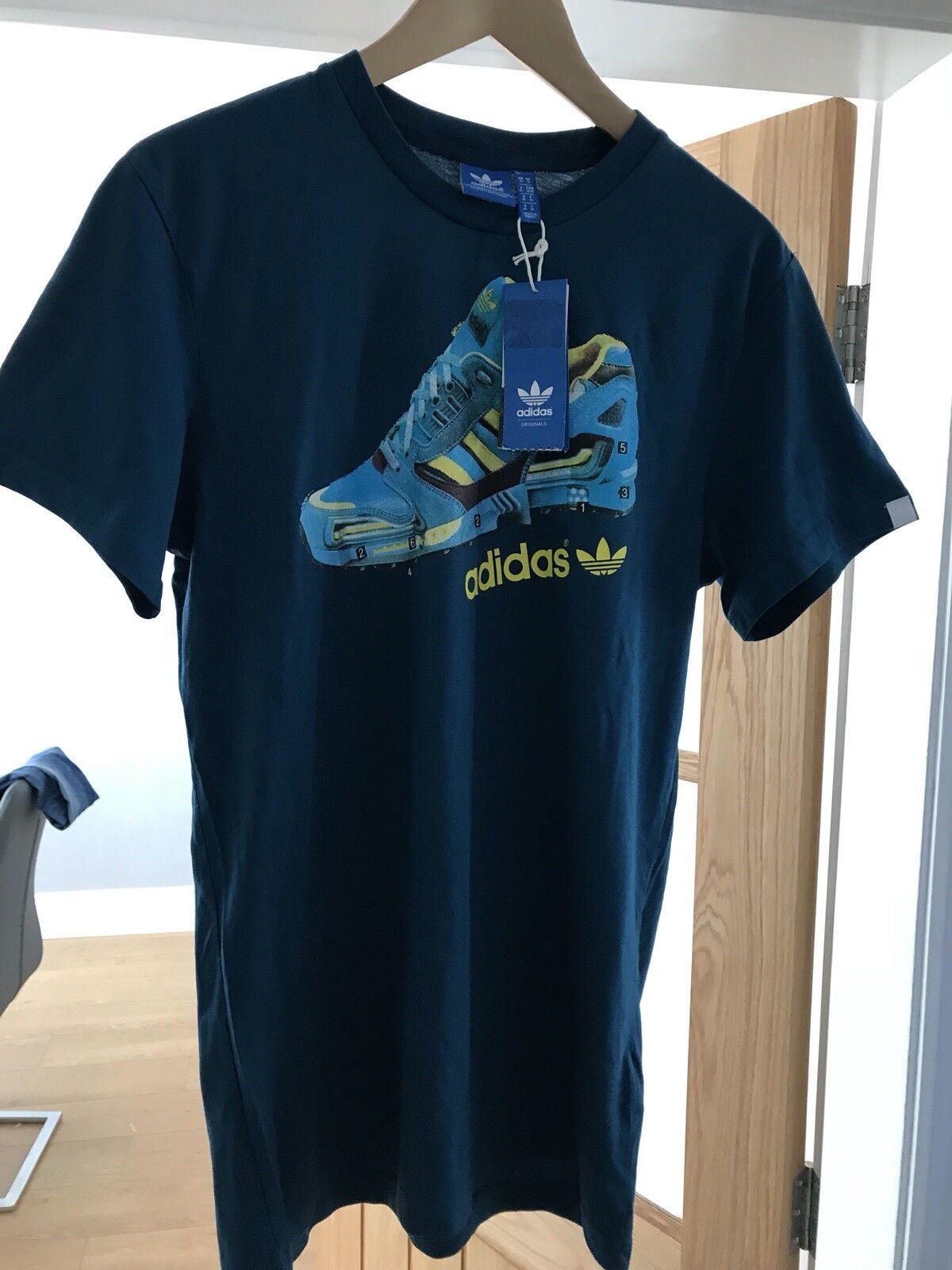 461b684f06a98e Adidas ZX 8000 T- Shirt Medium BNWT Rare Size Aqua nnolbo2277-T-Shirts