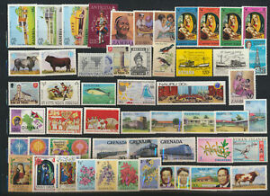 British-Colonial-Stamp-Super-Pack-50-Different-Mint-NH-Topicals-Commemoratives