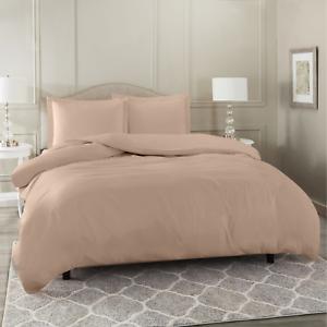 Duvet-Cover-Set-Soft-Brushed-Comforter-Cover-W-Pillow-Sham-Taupe-Full
