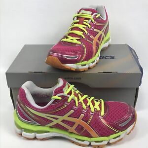 13cff1f0122a Asics Gel Kayano 19 Running Shoes Womens 9 40.5 EU Raspberry Mango ...