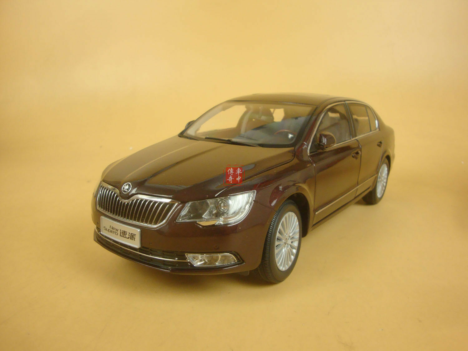1 18 2013 Skoda new superb dark red color