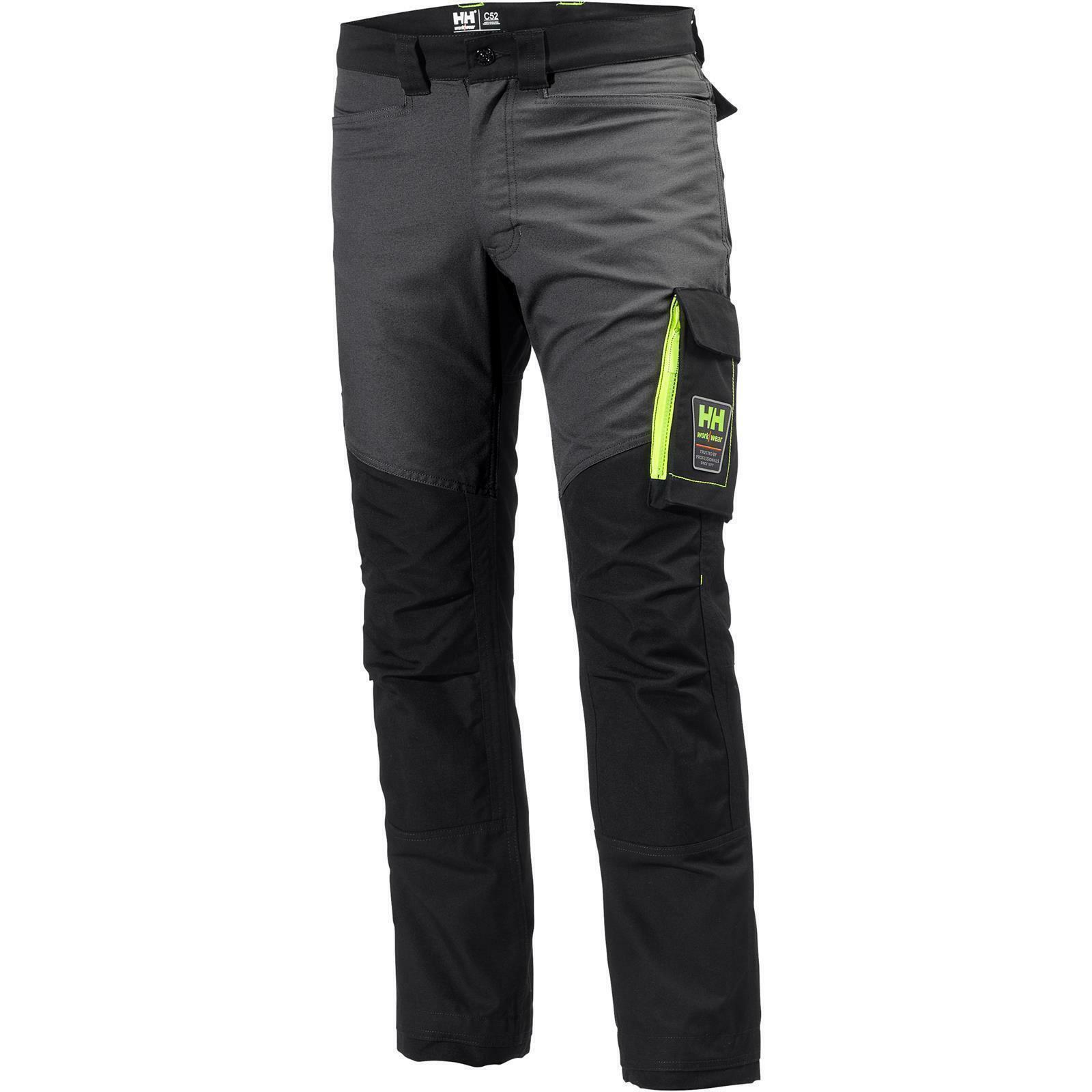 HH Aker federale Pantaloni Pantaloni Pantaloni Nero Grigio scuro c59298