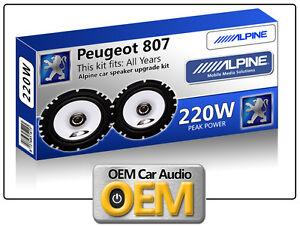 Peugeot 807 Front Door speakers kit Alpine car speakers 220W Max