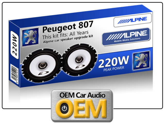 Peugeot 807 Front Door speakers kit Alpine car speakers 220W Max