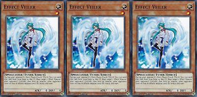 "SDPL LEHD YUGIOH SDSE /""Effect Veiler/"" X 3 1st mint Common YS17-EN020"
