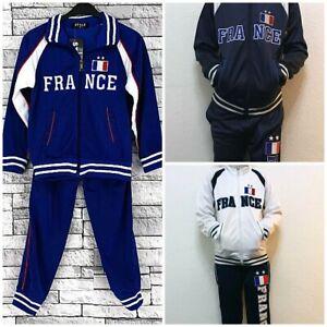 Football France Survêtements Pour Garçons Filles Et Enfants 4 Ans à 14 Ans Jogging Costume-afficher Le Titre D'origine