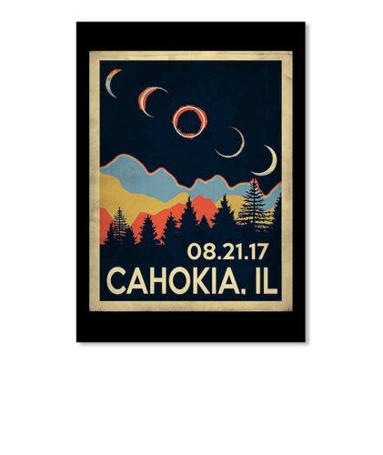 Portrait Vintage Cahokia Illinois Solar Eclipse 2 Sticker