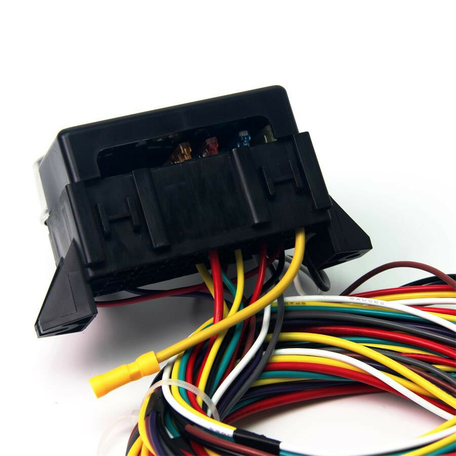 12v 10 circuit basic wire harness fuse box street hot rat