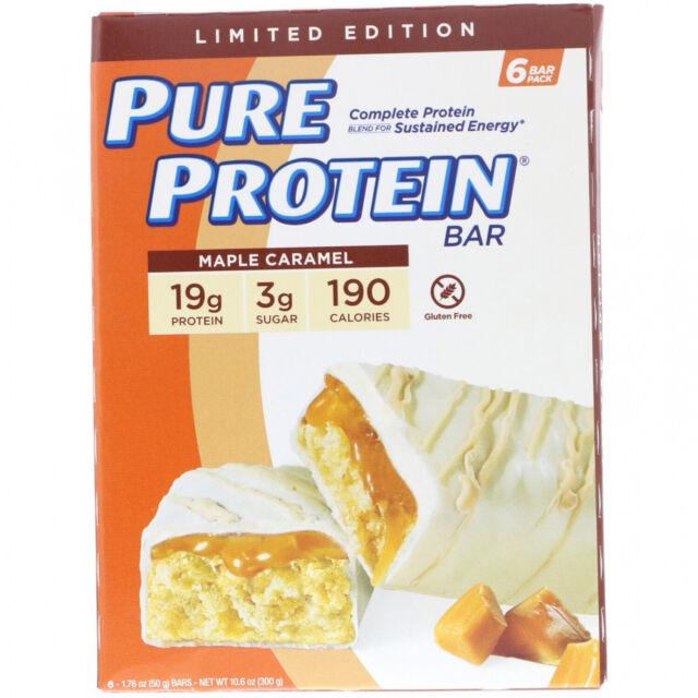Pure Protein, Maple Caramel Bar, 6 Bars, 1.76 Oz (50 G) Each
