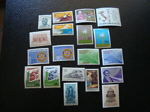 Italy-Stamp-Yvert-and-Tellier-N-1049-A-1054-1057-A-1069-N-A4-Stamp-Italy