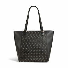 Vera Bradley Leather Micro-Stud Ella Tote Bag in Black