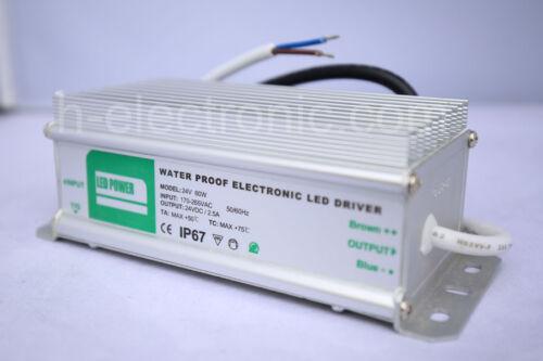 LED Alimentation Etanche ip67 12//24v 10w 15w 20w 30w 45w 80w /& gt100w transformateur Driver