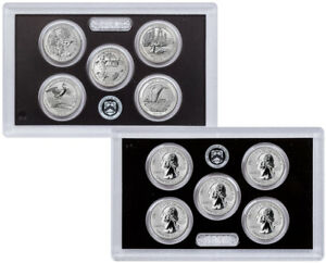 2018-S-Silver-5-Coin-Set-Reverse-Proof-ATB-Quarters-From-Set-OGP-SKU56422