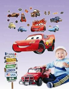 Disney-CARS-Eclairage-McQueen-wall-stickers-garcons-enfants-chambre-autocollant-decoration-de-creche